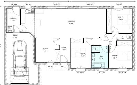 bureau de maison design plan maison plain pied 3 chambres 1 bureau plainpied 92