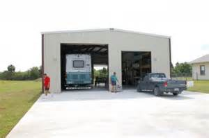 Metal RV Storage Garage