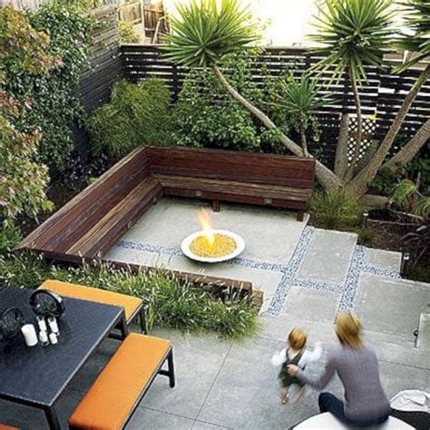Small Patio Designs by Small Backyard Patio Design With Bamboo Bench Decoor