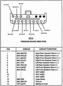 Ford Factory Amplifier Wiring Diagram  With Images