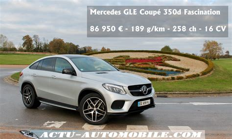 essai mercedes gle coupe  matic fascination actu