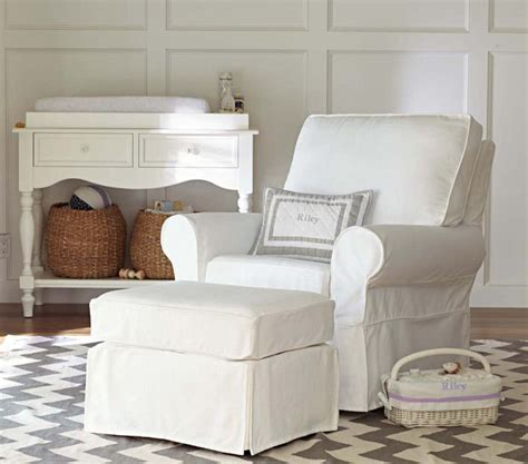 pottery barn glider and ottoman pottery barn kids comfort swivel glider must have baby