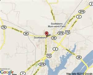 Al Map Scottsboro Alabama
