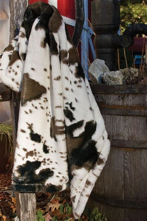Cowhide Blanket - this faux fur cowhide throw what are the dimensions