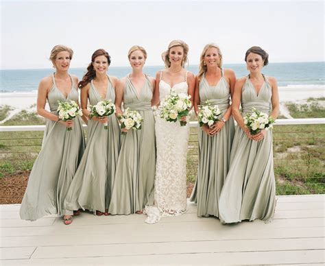 real wedding featuring  sage green multiway