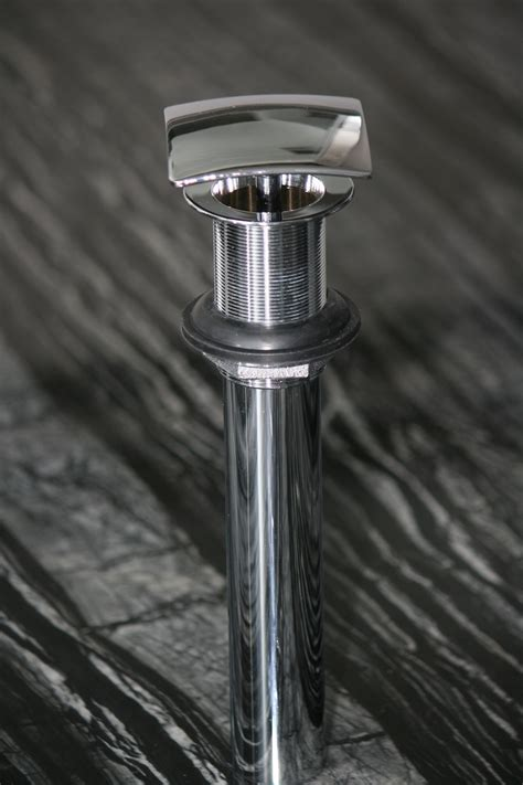 square fix dome vessel sink drain polished chrome