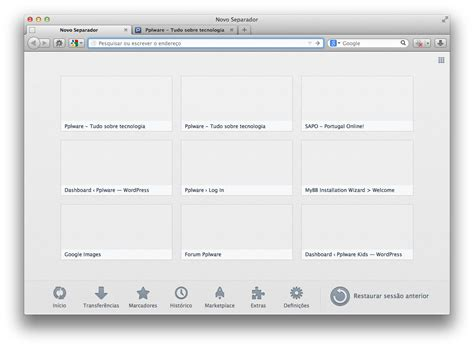 New Newtab Tab  Uma Página De Abertura Completa, No Firefox Pplware