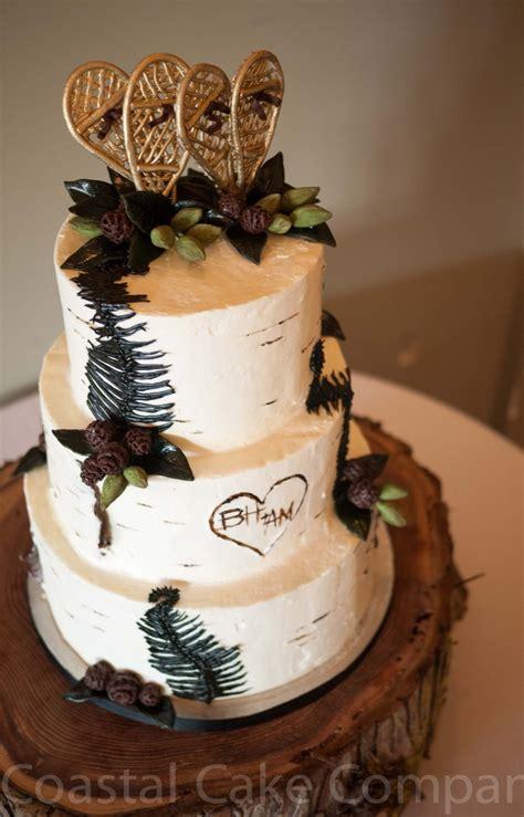 forest snowshoe themed cake coastal cake company cakes