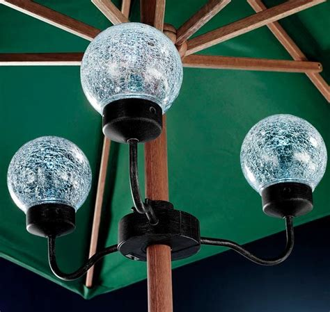 Battery Operated Umbrella Lights by Best 25 Patio Umbrella Lights Ideas On Garden