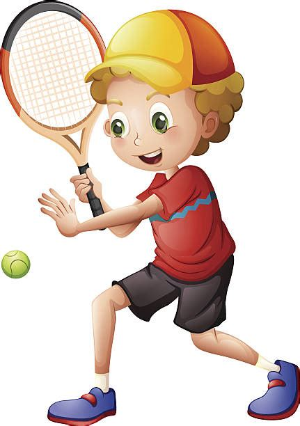 kids playing tennis clipart clipground