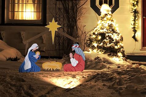 lighted outdoor nativity set outdoor christmas nativity set www imgkid com the