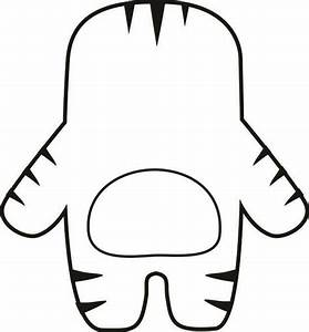 Monster template printable clipart best for Mosnter template