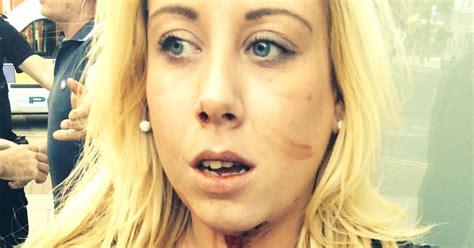 bouncer punches  women  shocking brawl