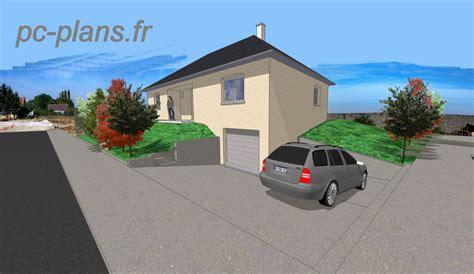 plan de maison de plain pied avec 3 chambres pc plans catalogue nos plans de maison