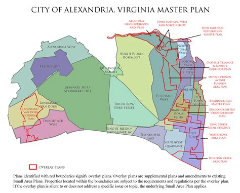 alexandria master plan citywide chapters planning