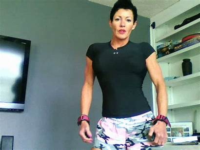 Muscle Goddess Workout Topless Debbie Yummy Rips