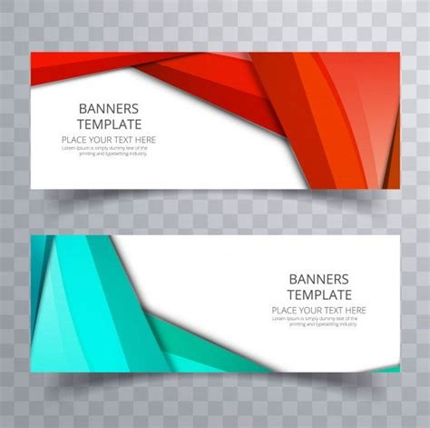 abstract colorful banners collection vector