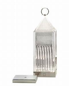 Luminaire Kartell : lampe sans fil lantern led cristal kartell ~ Voncanada.com Idées de Décoration