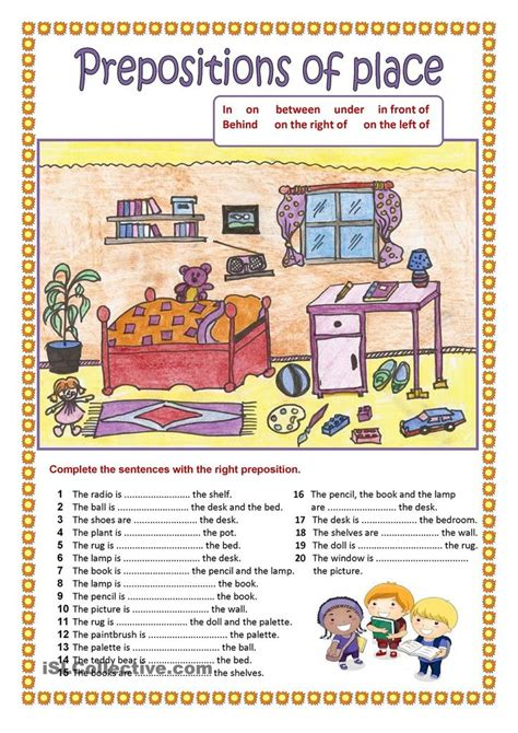prepositions of place 2 education