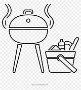 Coloring Barbecue Clipart Cartoon Pikpng Complaint Copyright sketch template