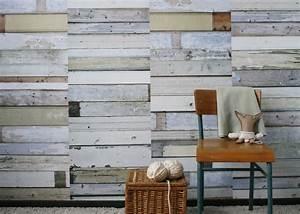 Papier Peint Effet Lambris : tapisserie effet bois gallery of papier peint imitation ~ Zukunftsfamilie.com Idées de Décoration