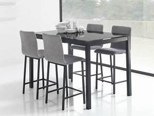 Table Haute Et Tabouret : table haute et tabouret de cuisine cuisine en image ~ Teatrodelosmanantiales.com Idées de Décoration