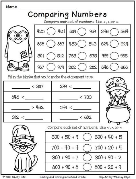 halloween math   grade comparing numbers
