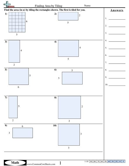 3 md 7a worksheets area and perimeter