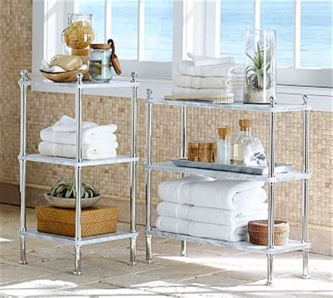 Small Etagere Bathroom by Metal Marble Etagere Pottery Barn