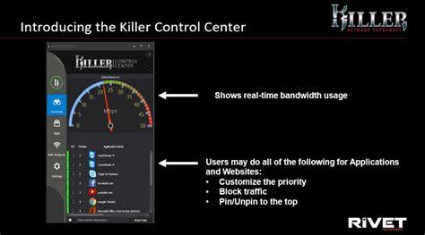 rivet networks killer  ethernet controller   killer control center notebookcheck