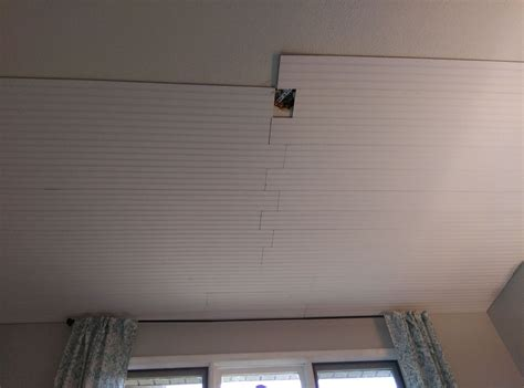 Hometalk  How To Cover Popcorn Ceiling With Beadboard