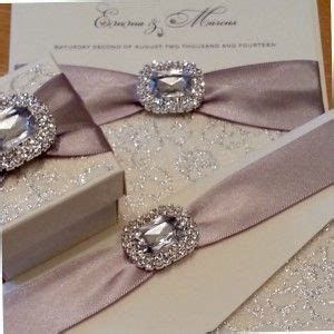 elegant wedding invitations  crystals crystal