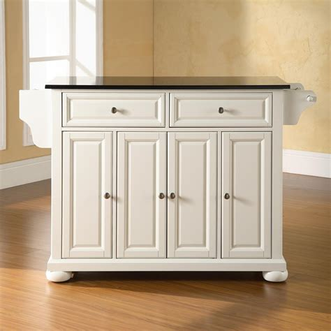kitchen islands lowes shop crosley furniture 52 in l x 18 in w x 34 in h white
