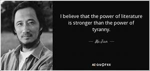 Ma Jian quote: ... Power Of Literature Quotes