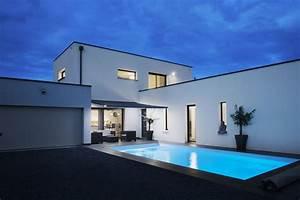maison contemporaine neuve avec piscine youtube With maison toit plat en l 2 maison neuve toit plat