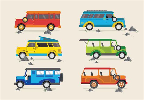 jeepney philippines art jeepney traditional philippines bus vector download free