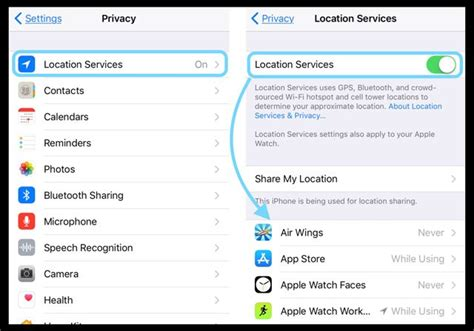 location settings iphone iphone s location services always on here s why ios e