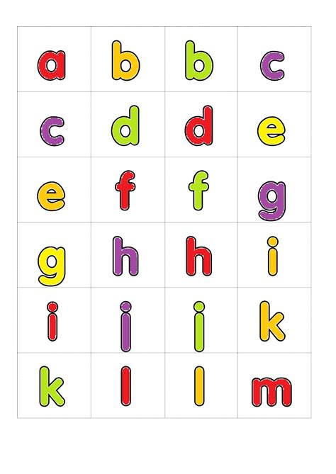 small alphabet letters printable alphabet  numbers