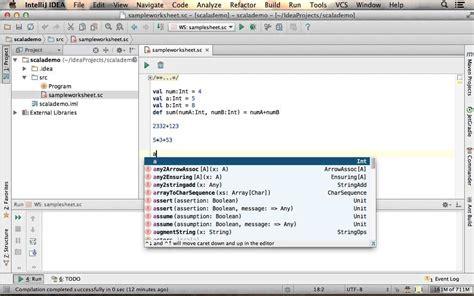 creating scala worksheet using intellij youtube