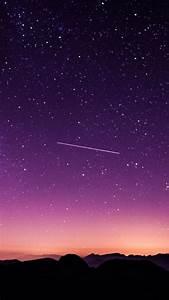 Girl Designs Wallpaper Starry Sky Night Purple Sky Twilight
