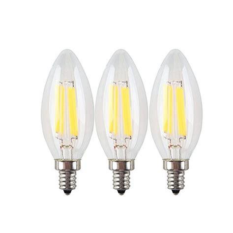 ruicaikun led filament bulb candle lights 3 pack 110