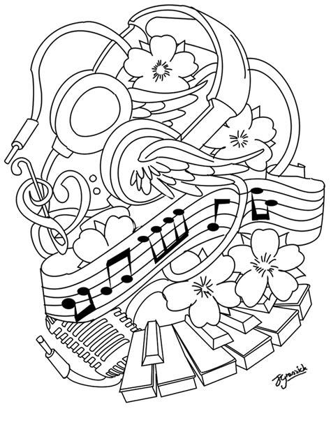 tattoo outline - Recherche Google | Music coloring, Tattoo