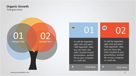 slide presentation template organic growth ppt infographic slide