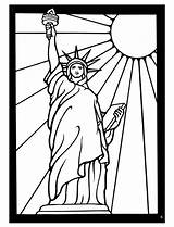 Liberty Statue Coloring Drawing York Sheets Glass Dover Stained Line Publications Cartoon Roses Patriotic Doverpublications Welcome Colouring America Patterns Traditional sketch template