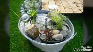 Kleiner Gartenteich Anlegen : miniteiche und wasserl ufe ideen youtube ~ Michelbontemps.com Haus und Dekorationen