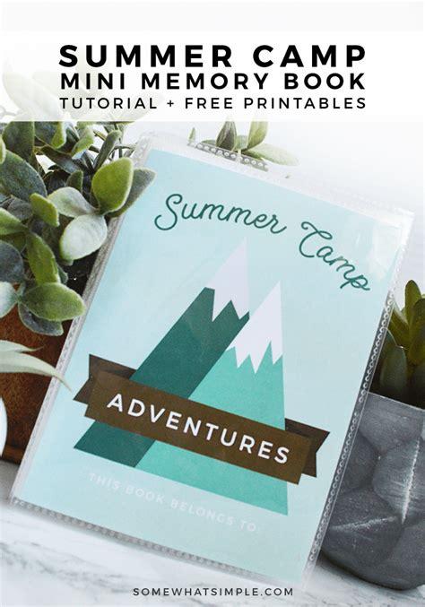 summer camp journal  printable  simple