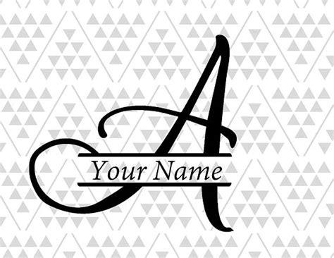 pin  monogram split letters