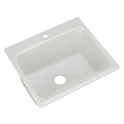 Thermocast Kensington Drop In Acrylic 25 in. 1 Hole Single
