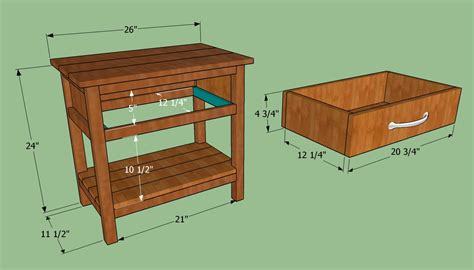 wooden bedside table plans  woodworking