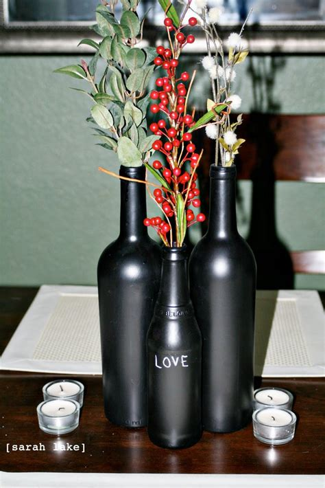 42 Best Wine Bottle Centerpieces Images On Pinterest
